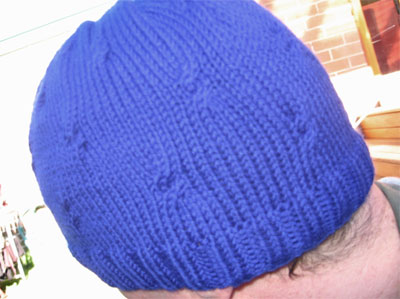 Adult sized hat modelled