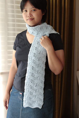 Midwest Moonlight scarf, done