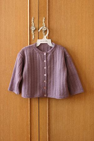 Ribbon edged cardigan (sans ribbon)