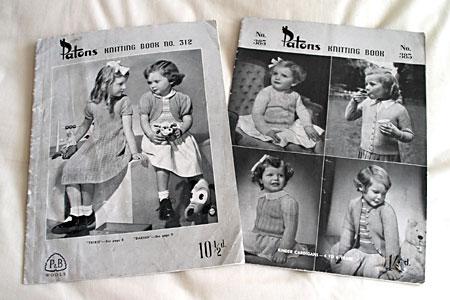 Vintage knitting pattern booklets