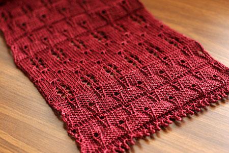Red gossamer scarf