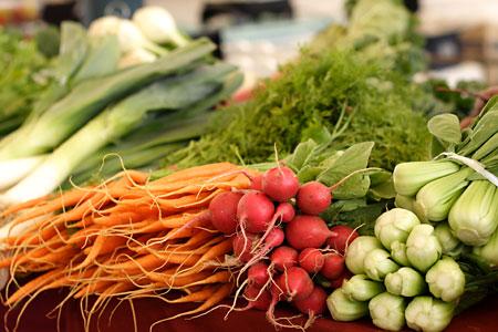 Vegetables stall